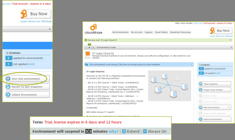 Testing BO BI 4 x using the cloud (as posted on Raphael Branger's
